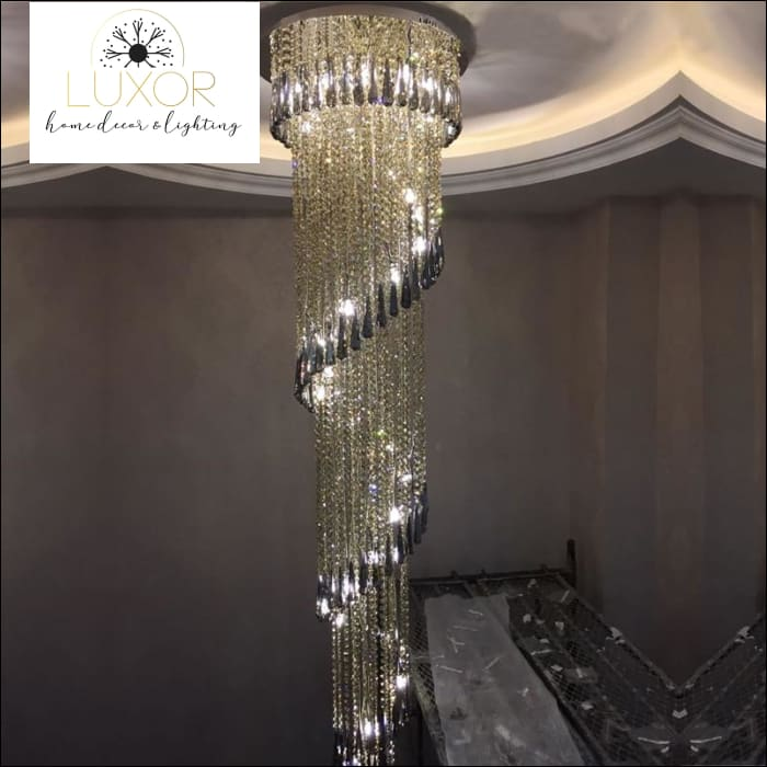 Leuther Spiral Crystal Chandelier - chandeliers