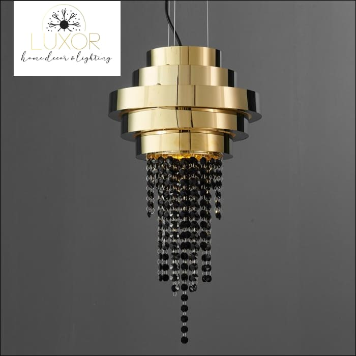 Lanai Luxury Black Crystal Pendant - Small - 30cm - chandeliers