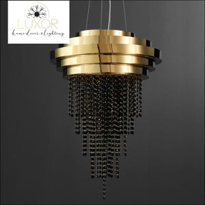 Lanai Luxury Black Crystal Pendant - Large - 53cm - chandeliers