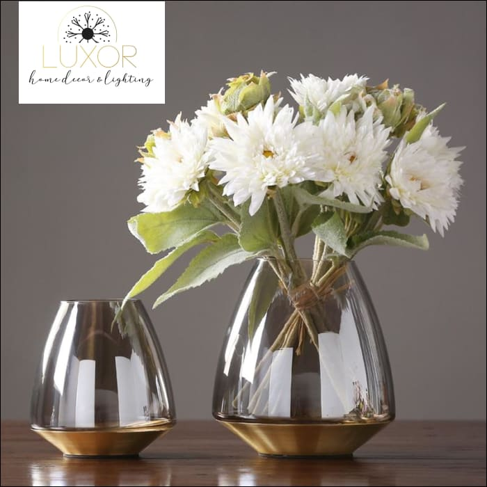 vases European Style Modern Glass Vase - Luxor Home Decor & Lighting
