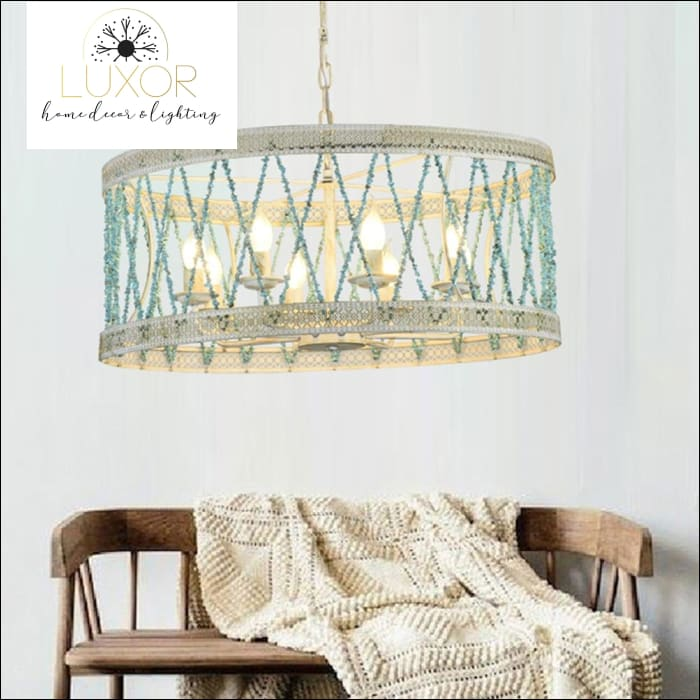 chandeliers Beachy Vintage Chandelier - Luxor Home Decor & Lighting