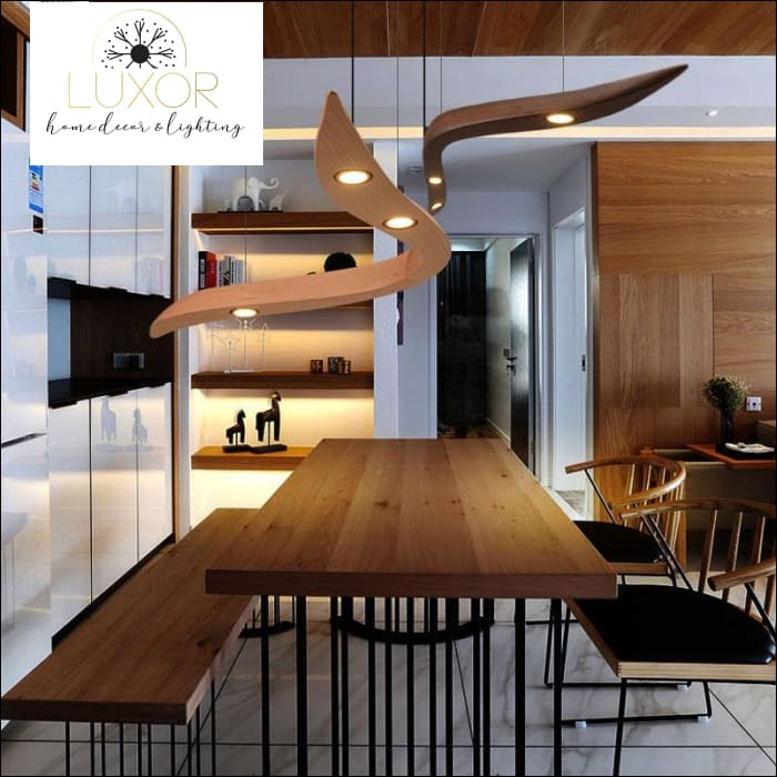 Hobson Wood Pendant Light - pendant lighting