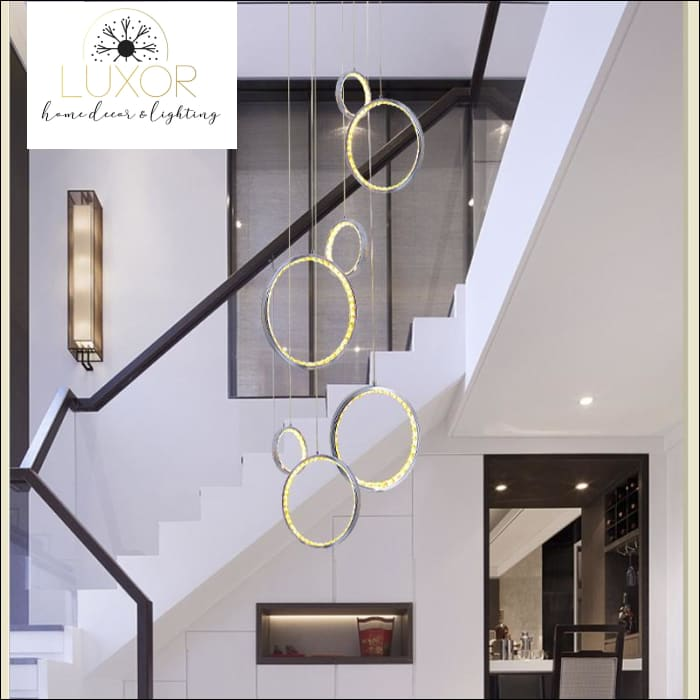 Zoraya 3 Ring Crystal Pendant Lights - pendant lighting