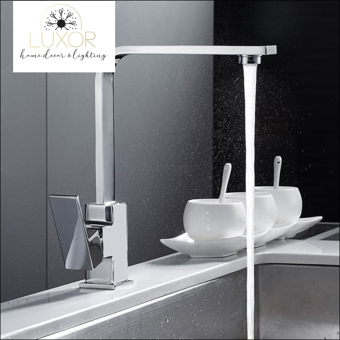 faucets Square Chrome Modern Kitchen Faucet - Luxor Home Decor & Lighting