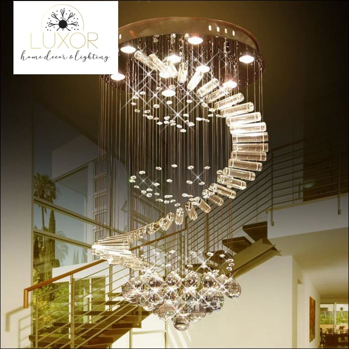 lighting Angelini Modern Crystal Chandelier - Luxor Home Decor & Lighting
