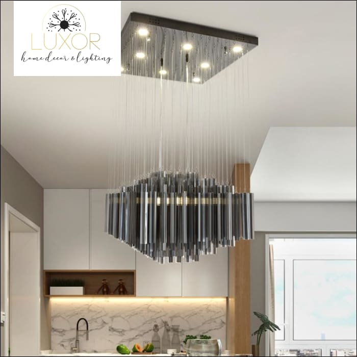 chandeliers Lux Smoky Gray Modern Crystal Chandelier - Luxor Home Decor & Lighting