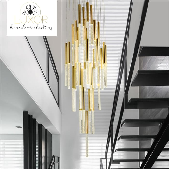 chandeliers Alliance Bubble Crystal Spiral Chandelier - Luxor Home Decor & Lighting