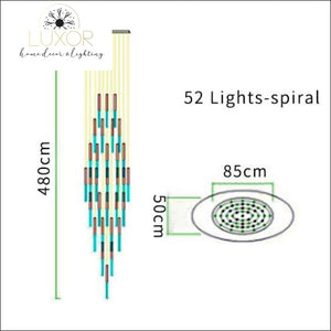 Obilina Luxury Spiral Crystal Chandelier - 85 x 480 cm - 52 Lights / Warm Light 3000K - chandelier