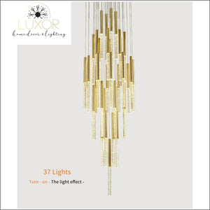 chandelier Obilina Luxury Spiral Crystal Chandelier - Luxor Home Decor & Lighting