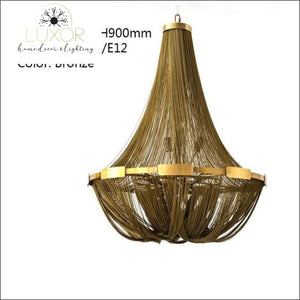 Franis Luxury Rope Chandelier - D700mm H900mm - chandeliers