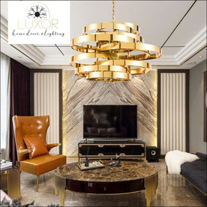 Atmosphere Gold Chandelier - chandeliers
