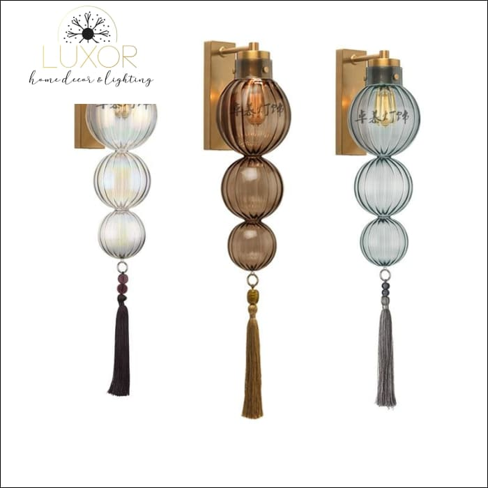 wall lighting Danish Globe Tassel Sconce - Luxor Home Decor & Lighting