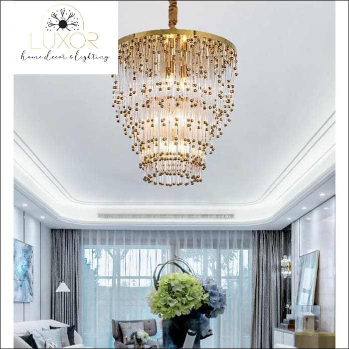 chandeliers Aerial Modern Crystal Chandelier - Luxor Home Decor & Lighting