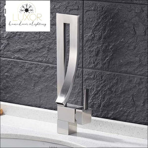 Miko Modern Faucet - Brush Nickel - faucets