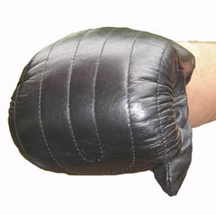 Black Leather Bag Gloves