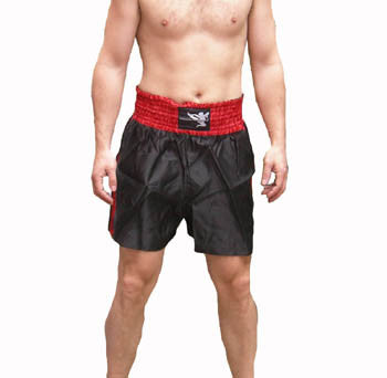 Muay Thai Shorts - Red and Black