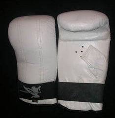 White Leather Bag Gloves