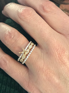 14K Yellow Gold and Diamond Stackable set $2100.00