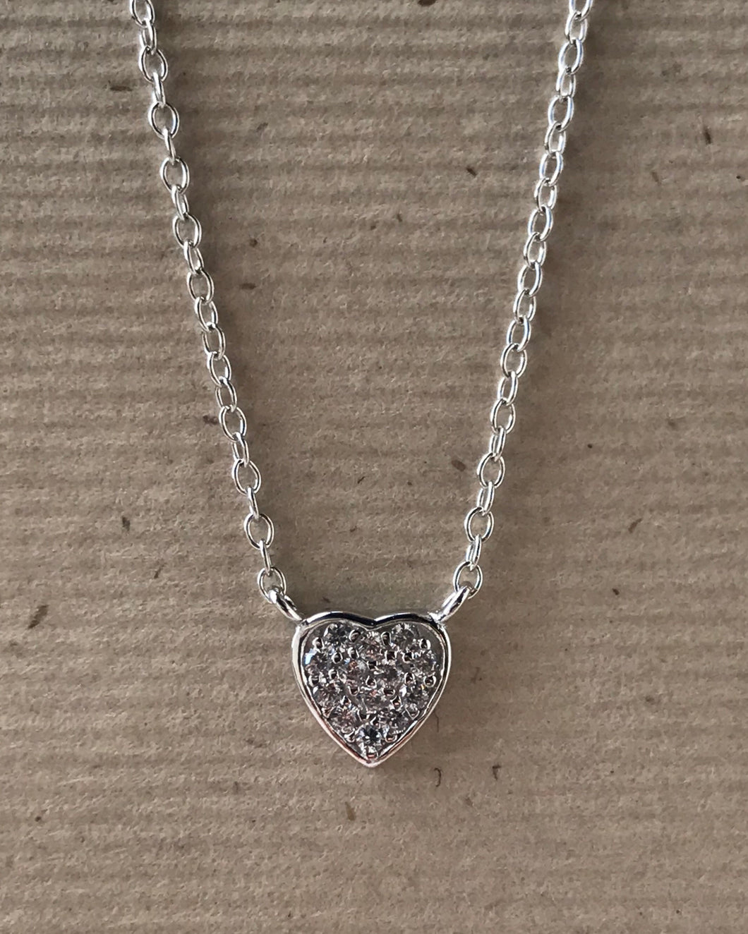"Sterling Silver and CZ 16"" $13.00"