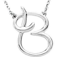 Load image into Gallery viewer, Sterling Silver Initial Necklace $38.00