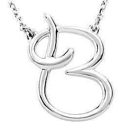 Sterling Silver Initial Necklace $38.00
