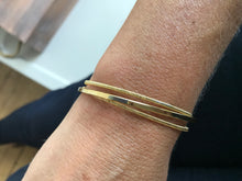 Load image into Gallery viewer, Yellow Gold Plated Cuff Bracelet $174.00