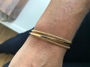 Yellow Gold Plated Cuff Bracelet $174.00