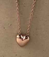 "Load image into Gallery viewer, Rose IP Plated Stainless Steel 17.5"" Necklace $28"