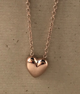 "Rose IP Plated Stainless Steel 17.5"" Necklace $28"