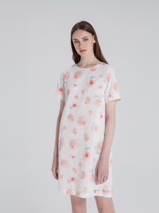White Peach T-Shirt Dress