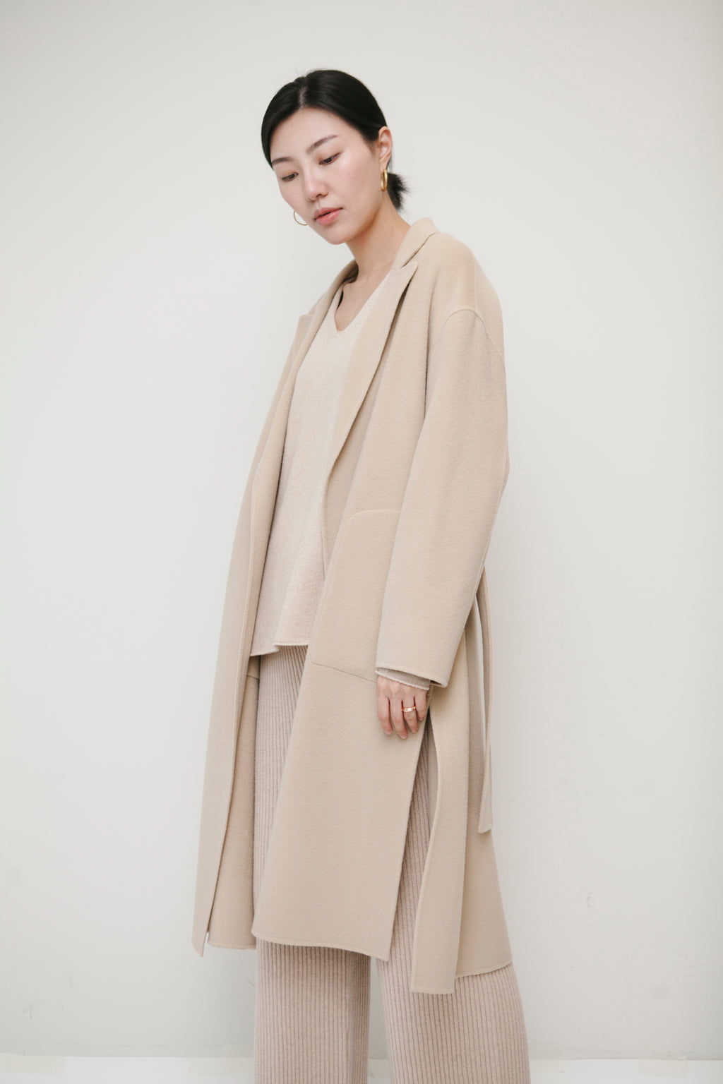 Light Beige Wool Coat