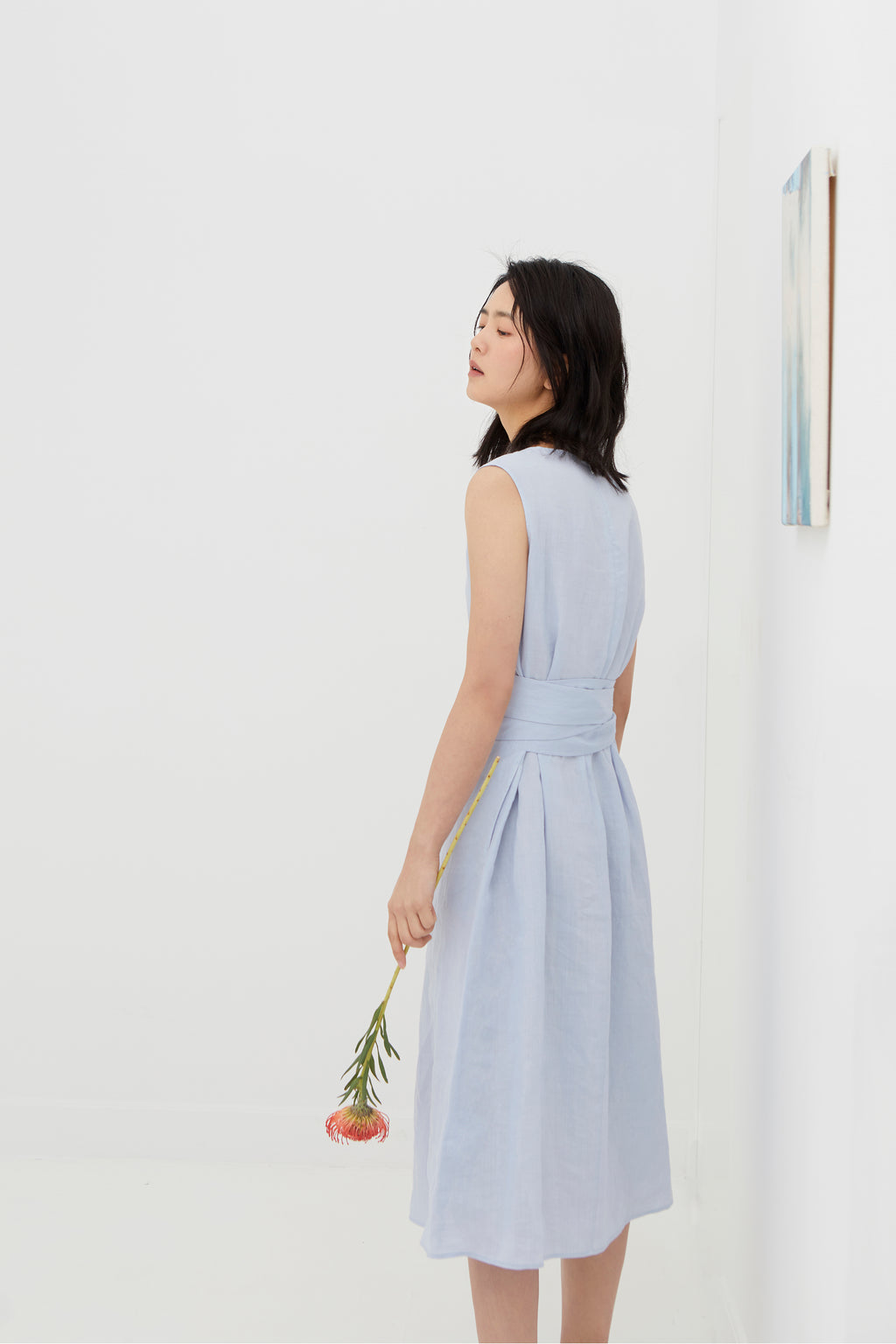 Light Blue Ramie Dress