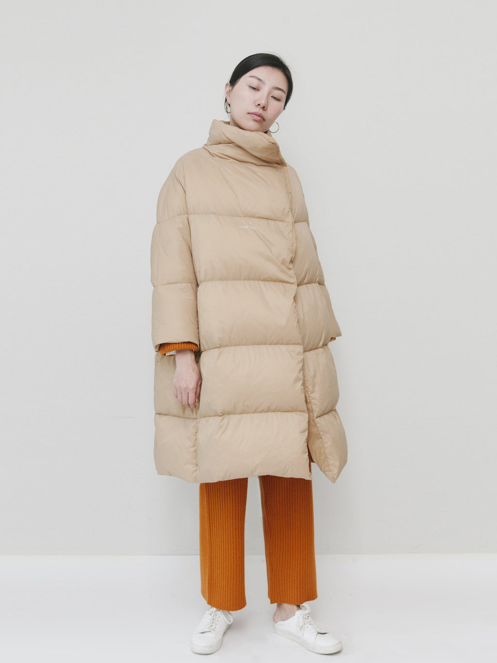 Beige Puffy Down Coat