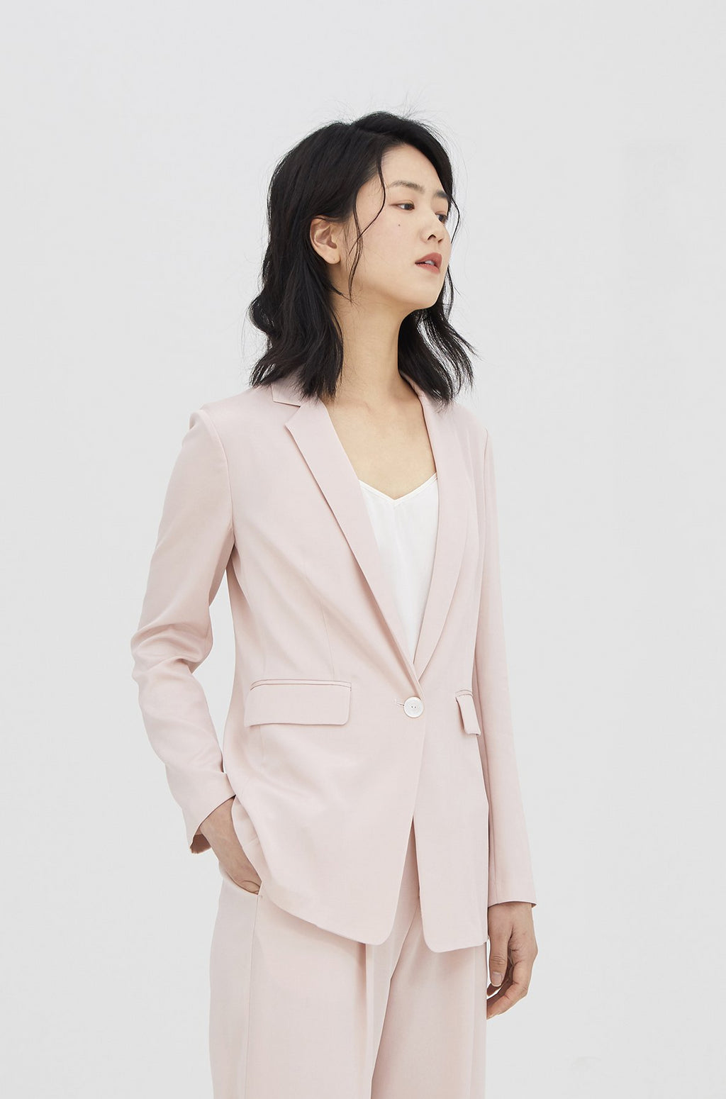 Light Pink Silk Blazer