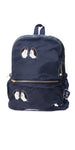 Navy Blue Nylon Embroidered Penguin Backpack