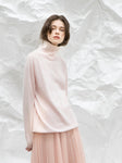 Light Pink Turtleneck Knitted Top