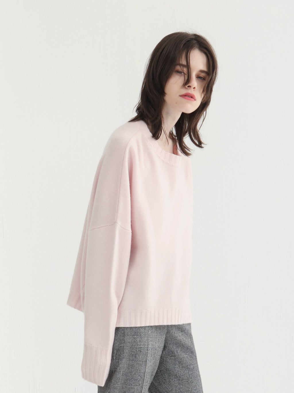 Light Pink Crewneck Knitted Top