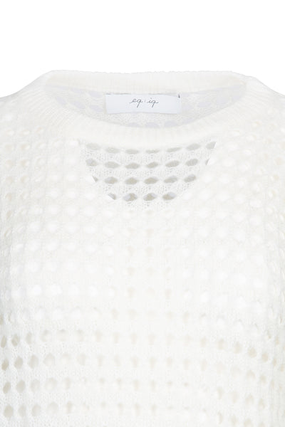 0281921502 Mesh knit sweater