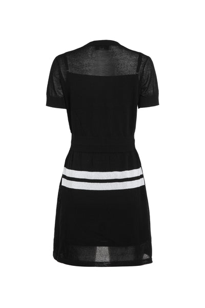 0281928702 Knitted dress with adjustable waistband