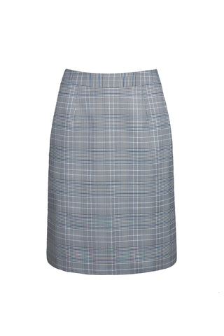 0681921101 Checked skirt with elastic waistband