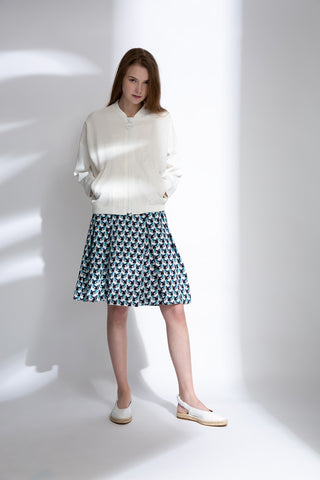 0681921102 Geo-patterned A-line skirt