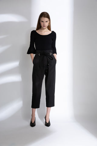0681921201 Paper-bag tapered trousers