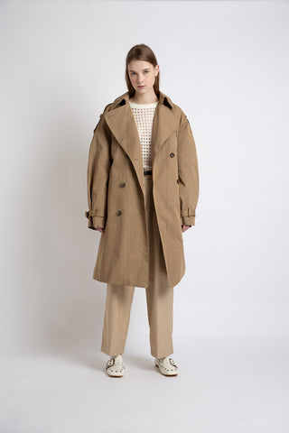 0281921901 Double-breasted statement trench