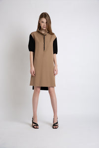 0281921706 Color-blocking T-shirt dress