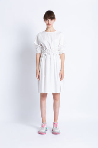 028192B701 Poplin ruched dress