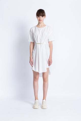 0281928703 Asymmetric dress with gold bar