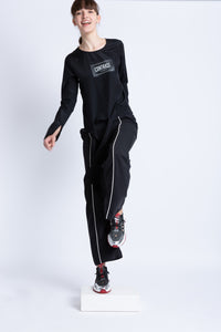 0281928201 Tracksuit jogger with contrasting front stripe