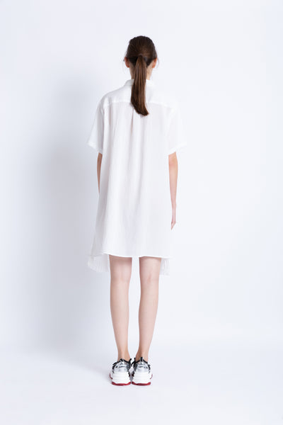 0281928701 Shirt dress with convertible pleats