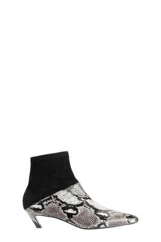 eq:iq DARIA Contrasting Leather Ankle Boots