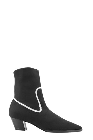 QUEENIE Stretch-knit Ankle Boots